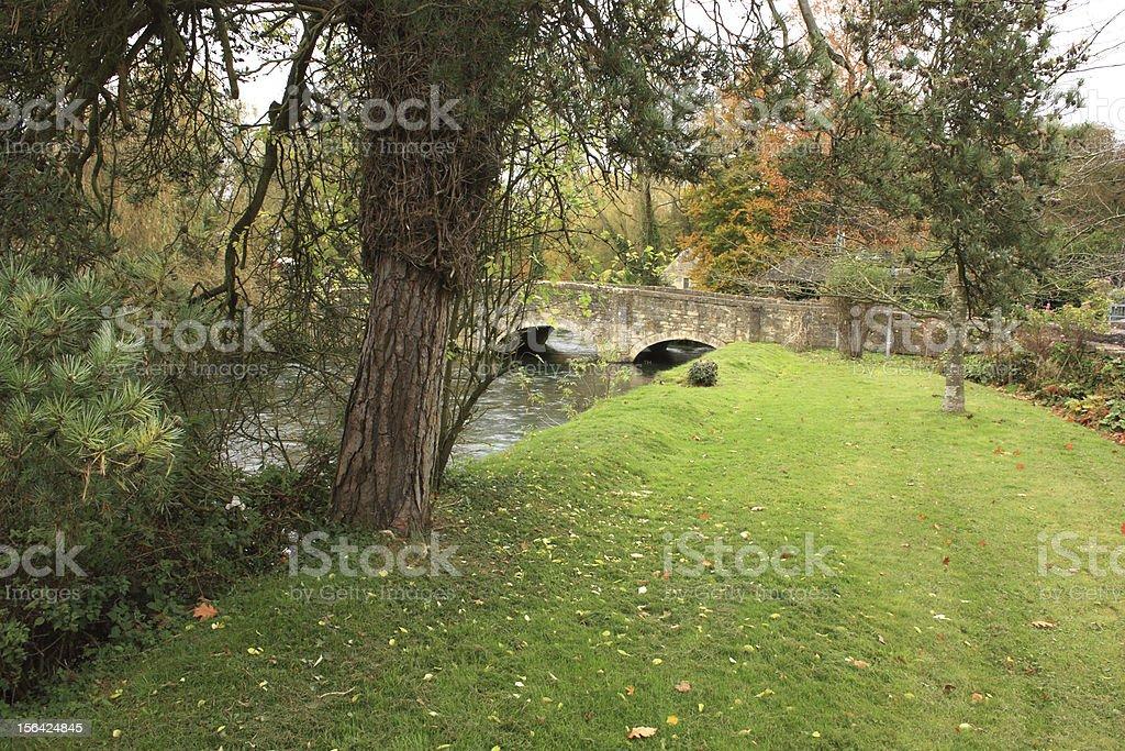 Old bridge in Bibury royalty-free stock photo