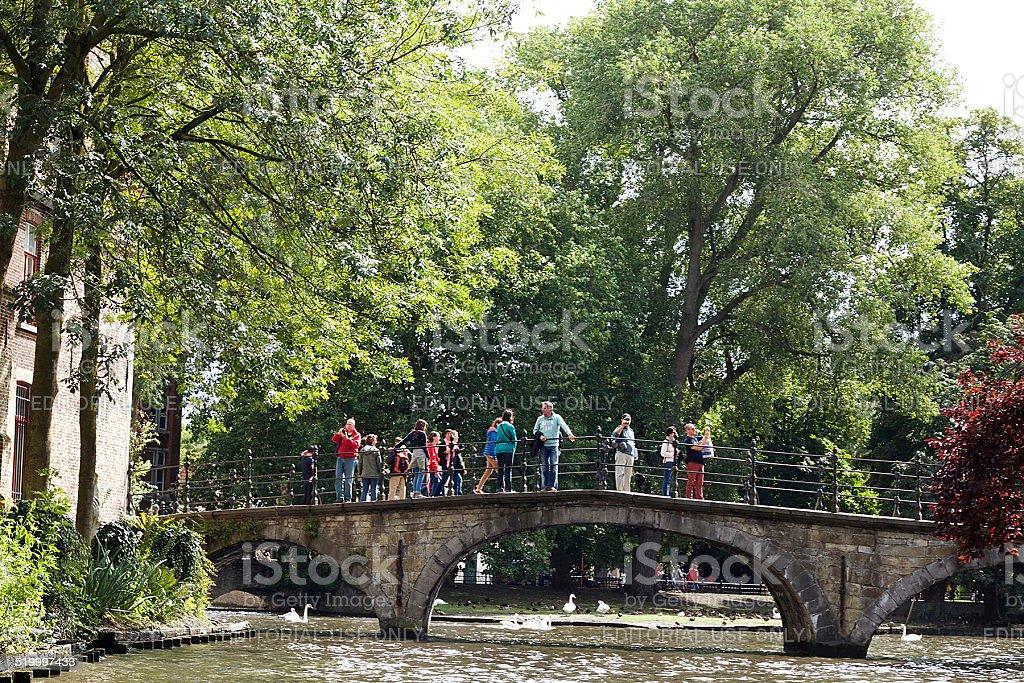 Ponte storico di Bruges foto stock royalty-free