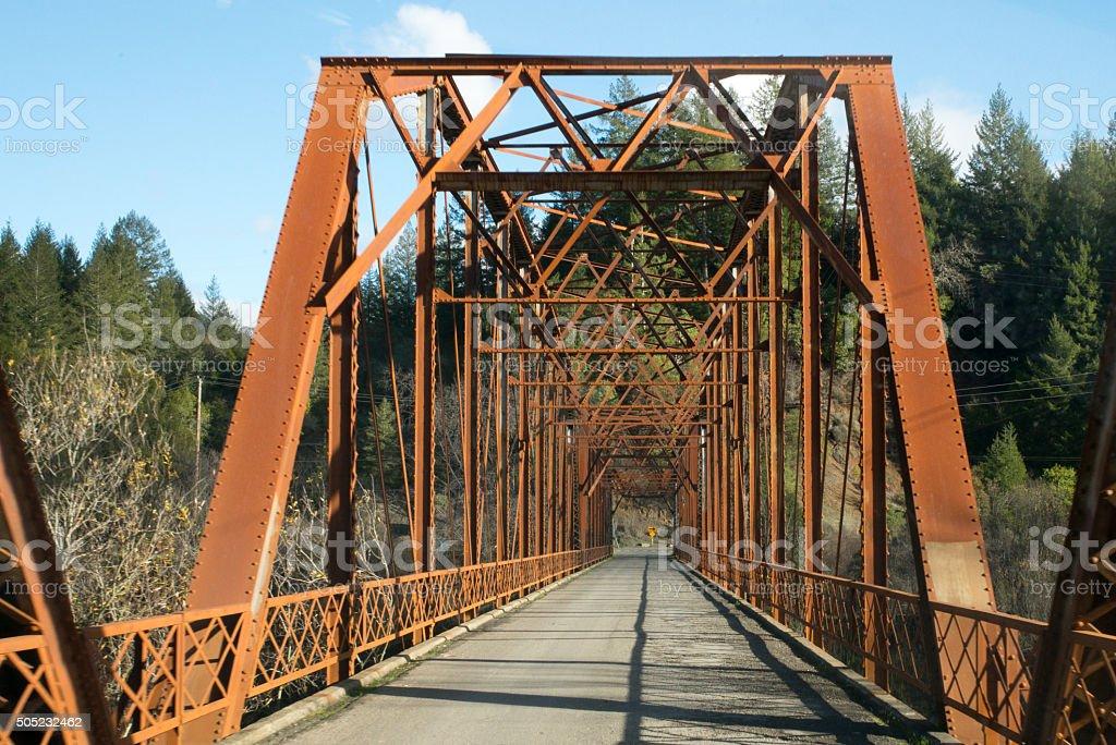Old bridge in California stock photo