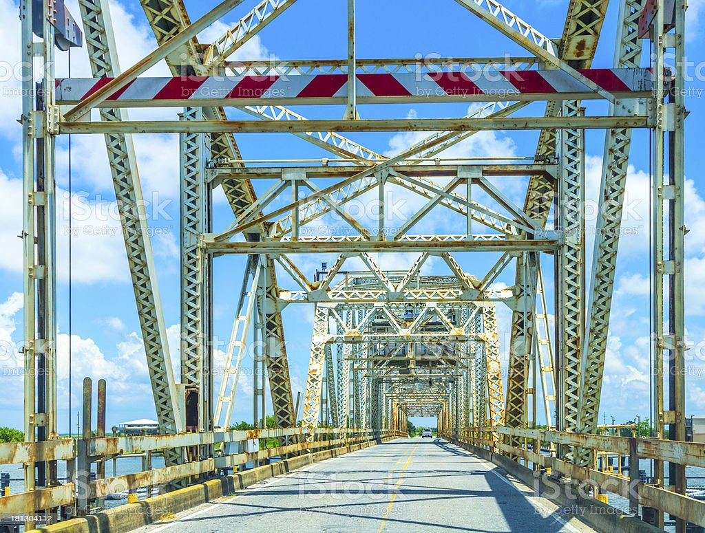 old bridge in East area of New Orleans stock photo