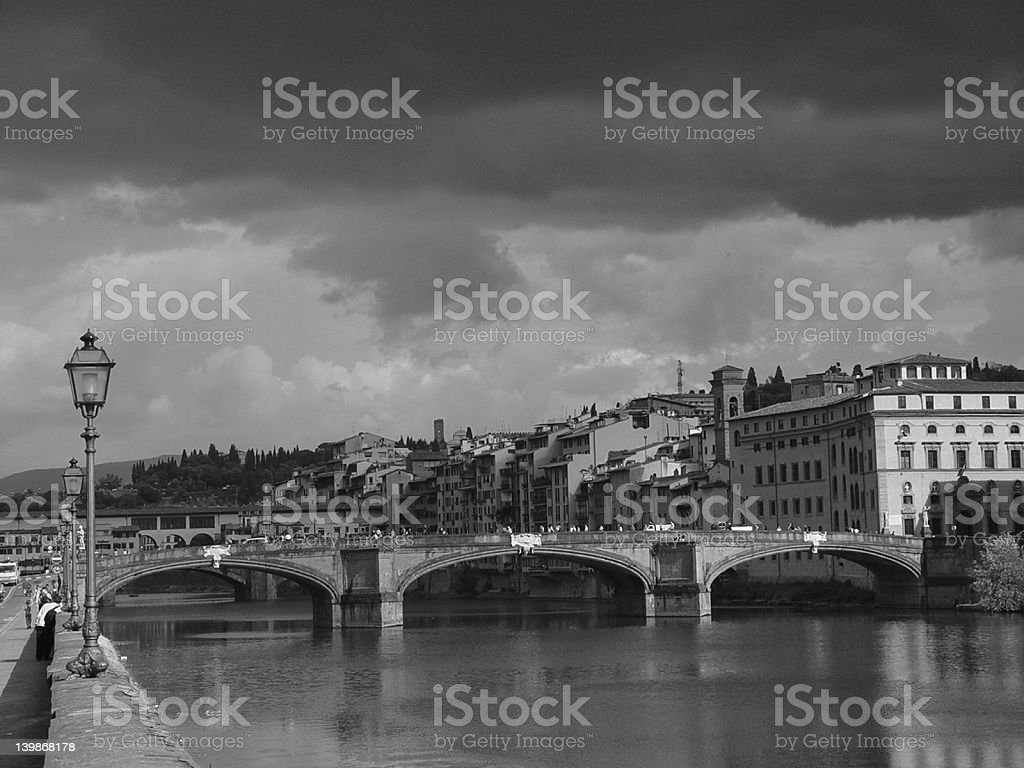 Old Bridge in Florence royalty-free stock photo