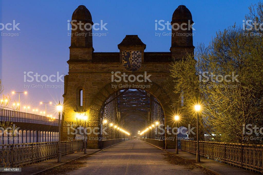 Old Bridge in Hamburg royalty-free stock photo