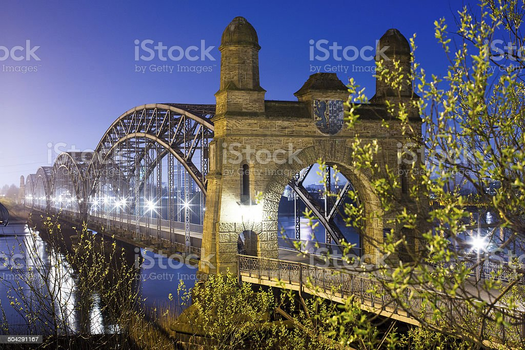 Old Bridge in Hamburg stock photo