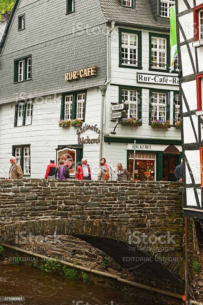 Old bridge in Monschau royalty-free stock photo
