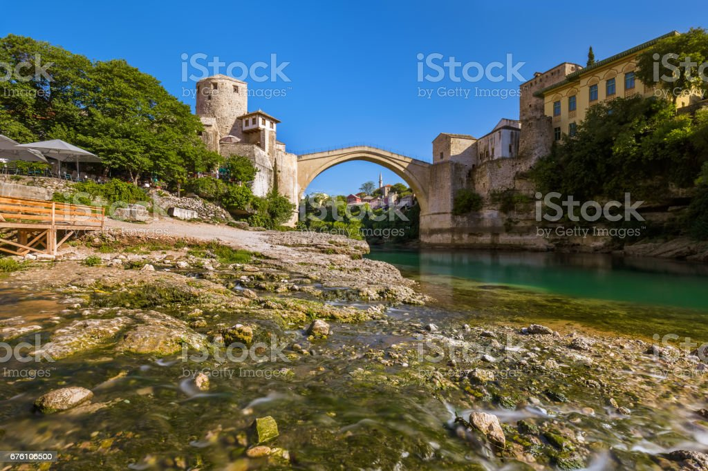 Old Bridge in Mostar - Bosnia and Herzegovina stock photo