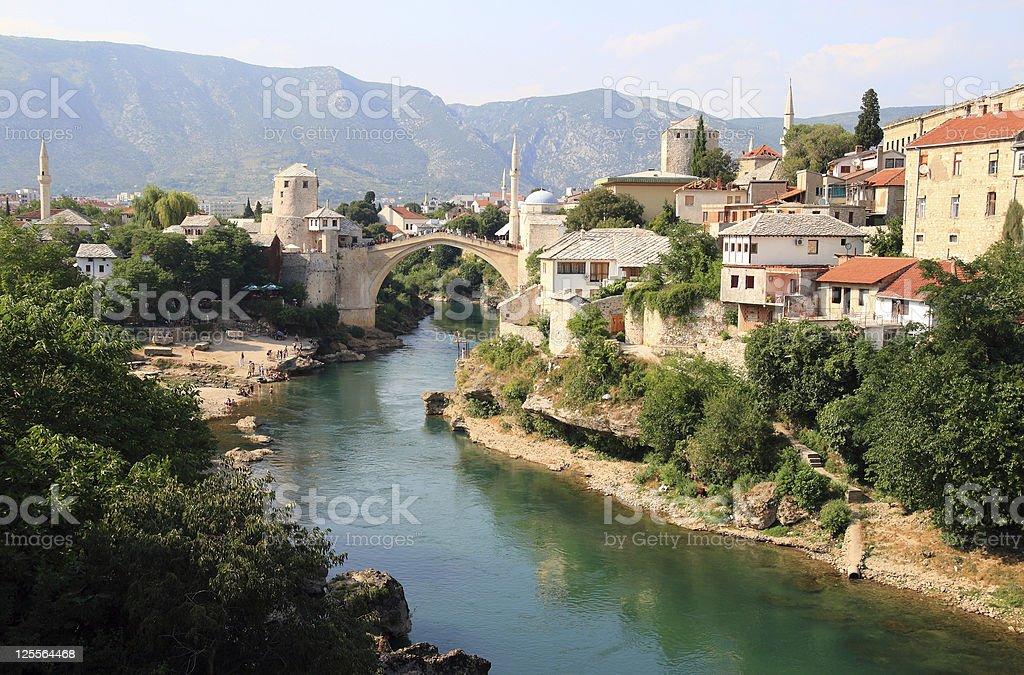 Old Bridge in Mostar stock photo