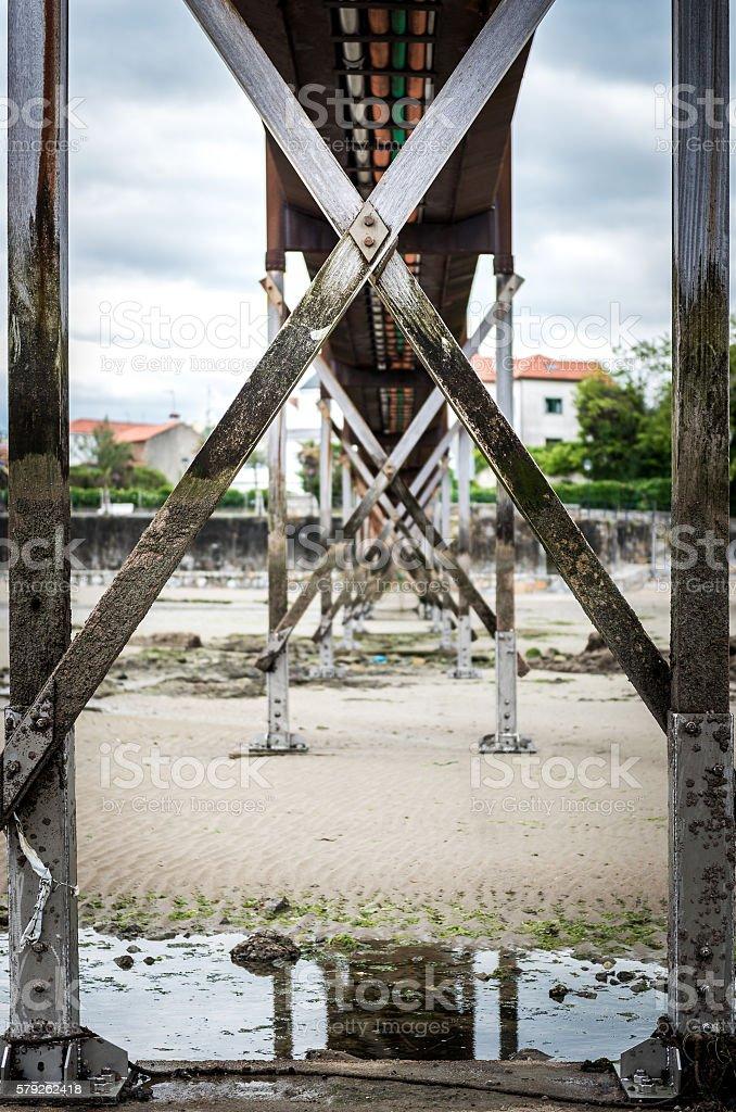 Old bridge in Santa Cruz island, Oleiros, A Coruna, stock photo