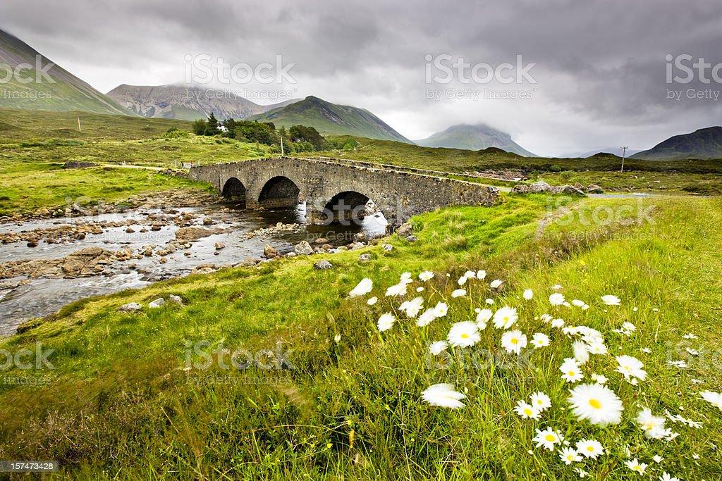 Old bridge in Sligachan royalty-free stock photo