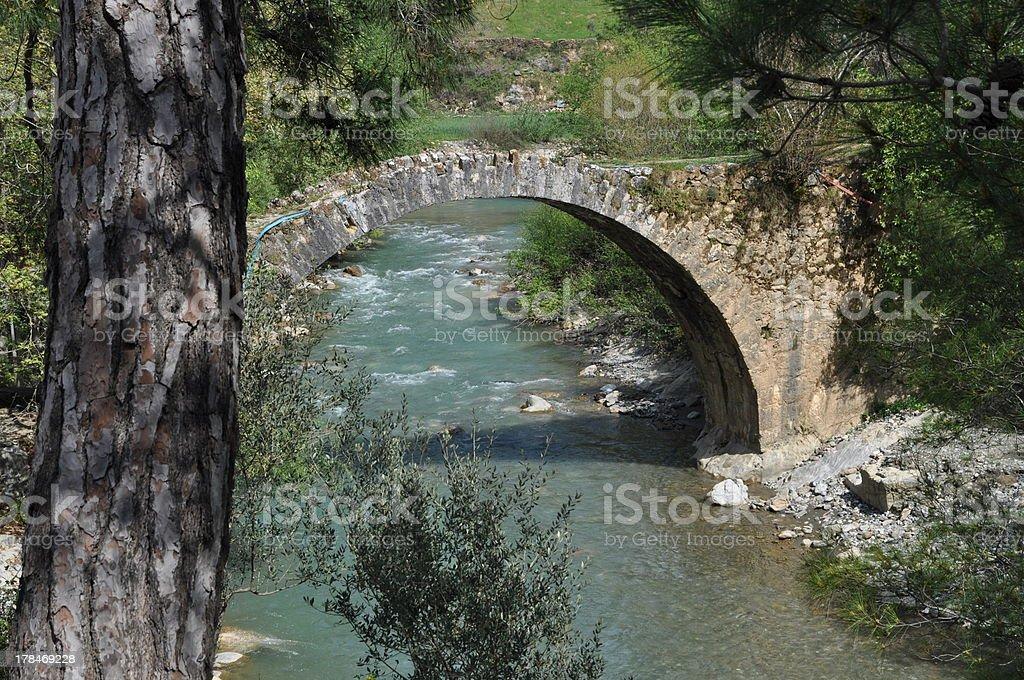 Old bridge in Turkey royalty-free stock photo