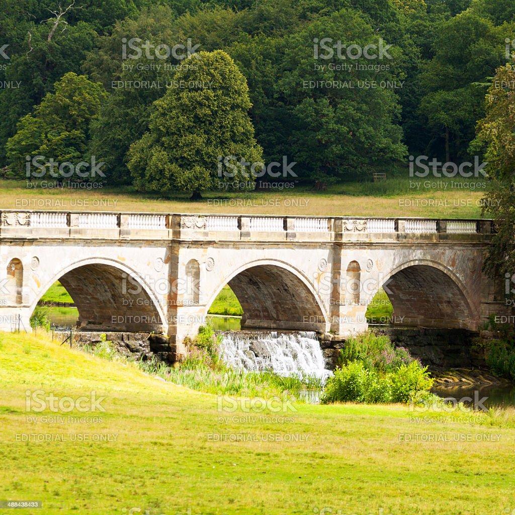 Old bridge of Keddleston Hall royalty-free stock photo