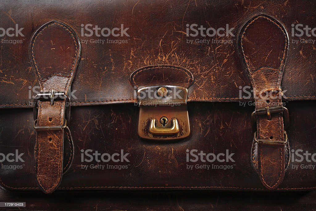 old briefcase stock photo