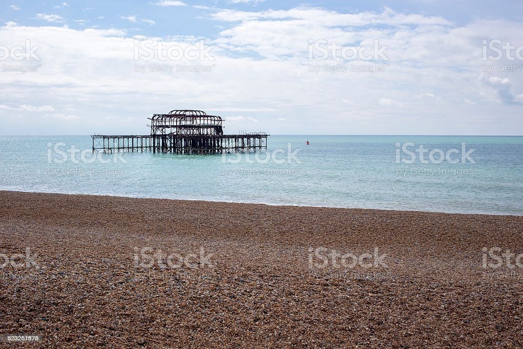 Old Brightion Pier - Brighton, England stock photo