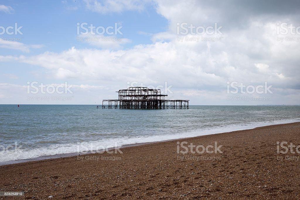 Old Brightion Pier - Brighton, England stock photo
