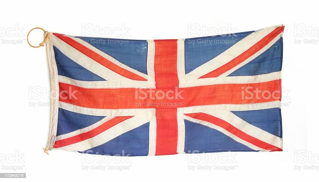 Old British Flag royalty-free stock photo