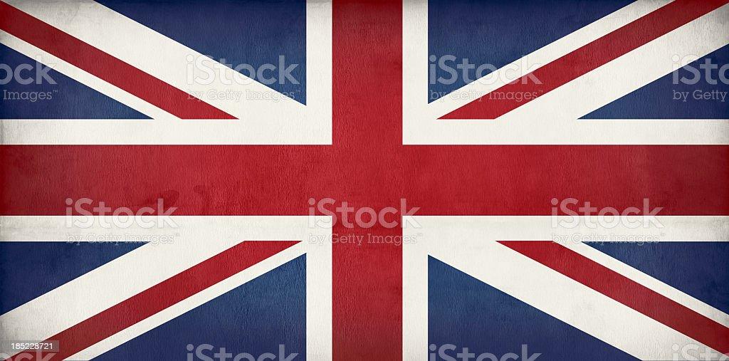old British flag - Union jack stock photo