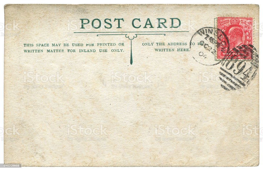 old british royal mail postcard background used in early 1900s stock photo