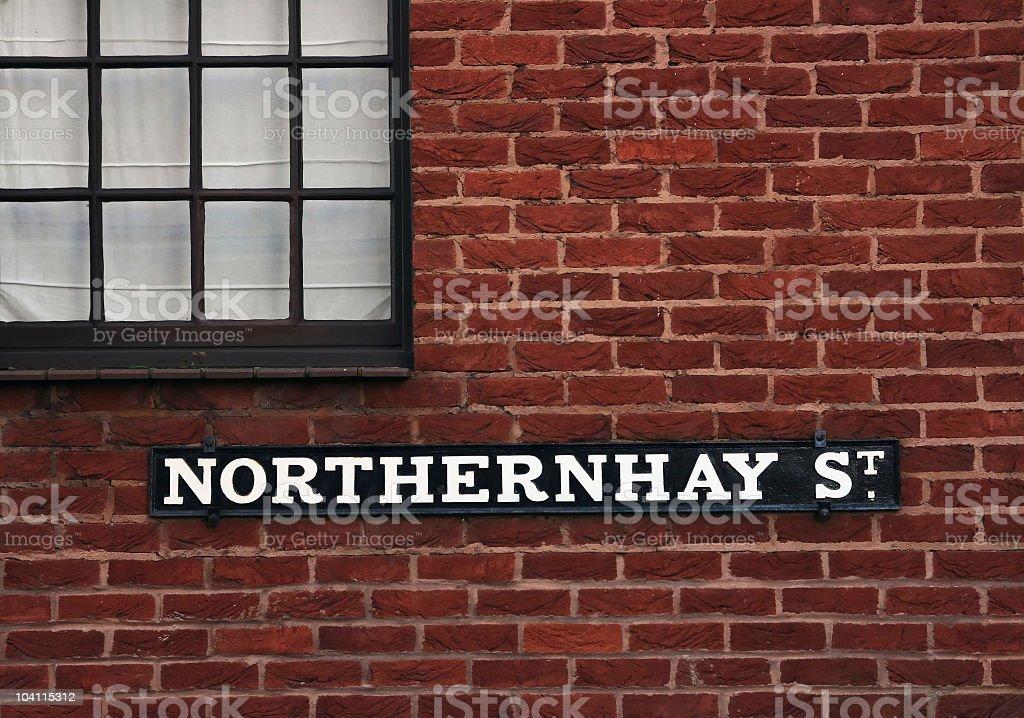 Old british street sign royalty-free stock photo
