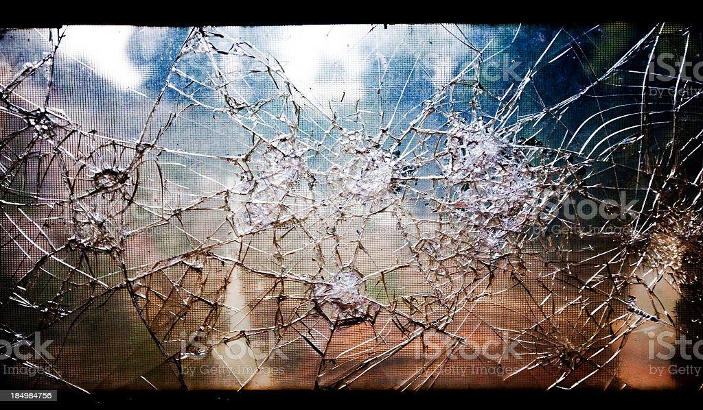 Old Broken Glass Window royalty-free stock photo