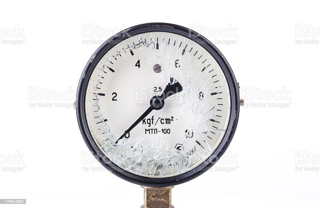 Old Broken Manometer - Pressure Gauge royalty-free stock photo