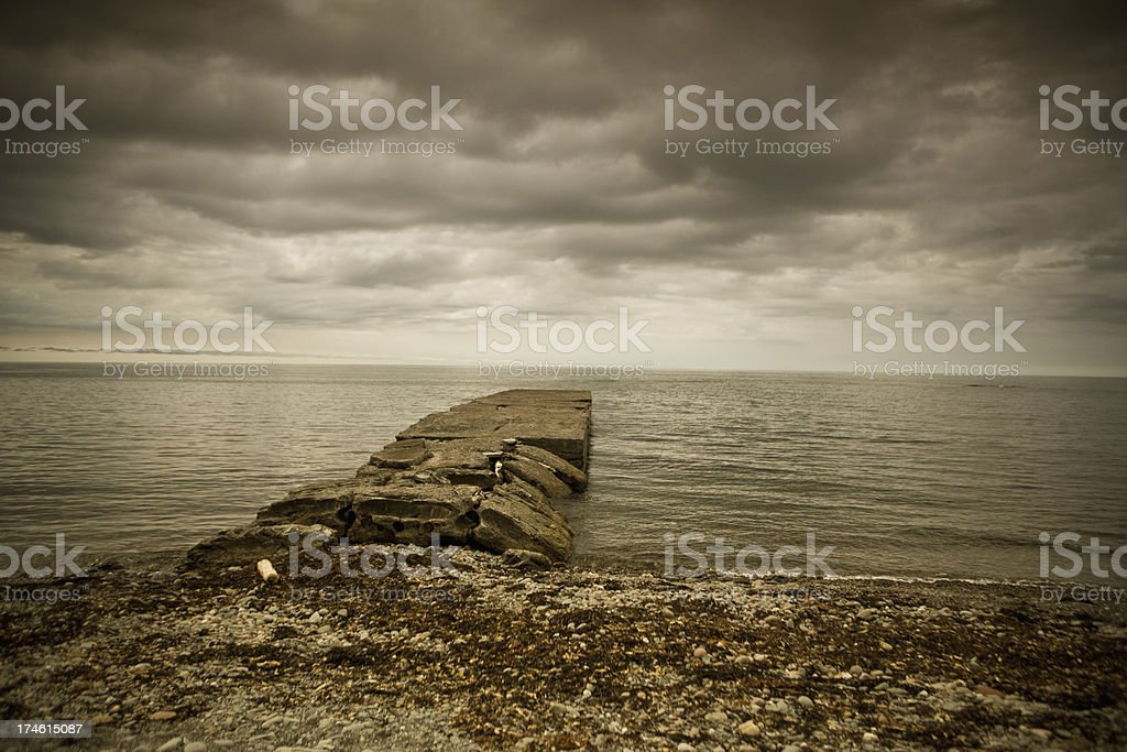 Old broken pier royalty-free stock photo