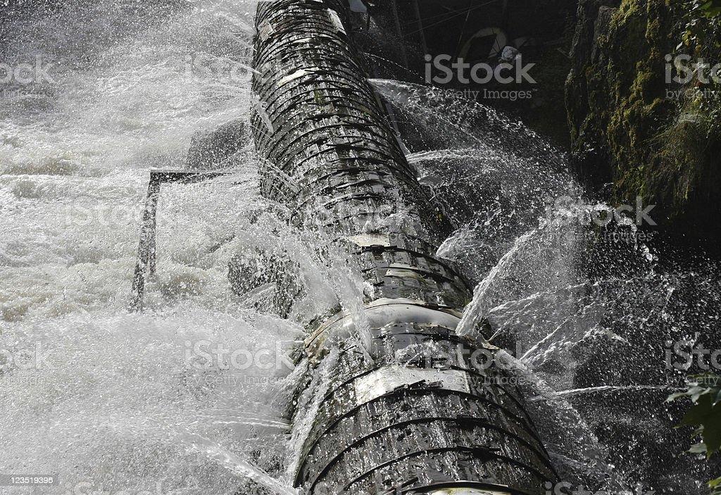 Old broken pipeline royalty-free stock photo
