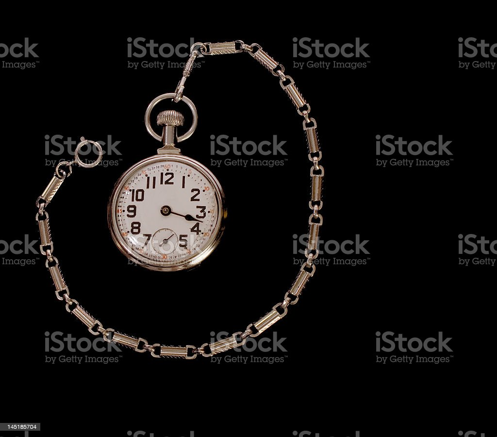 Velho quebrado Pocketwatch foto royalty-free