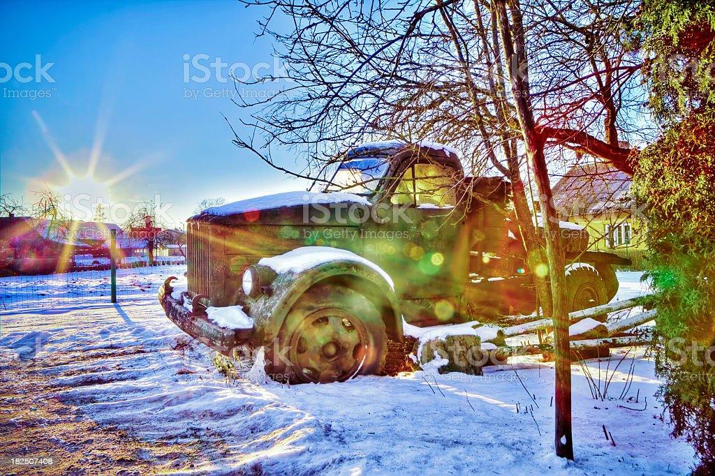 Old broken truck royalty-free stock photo