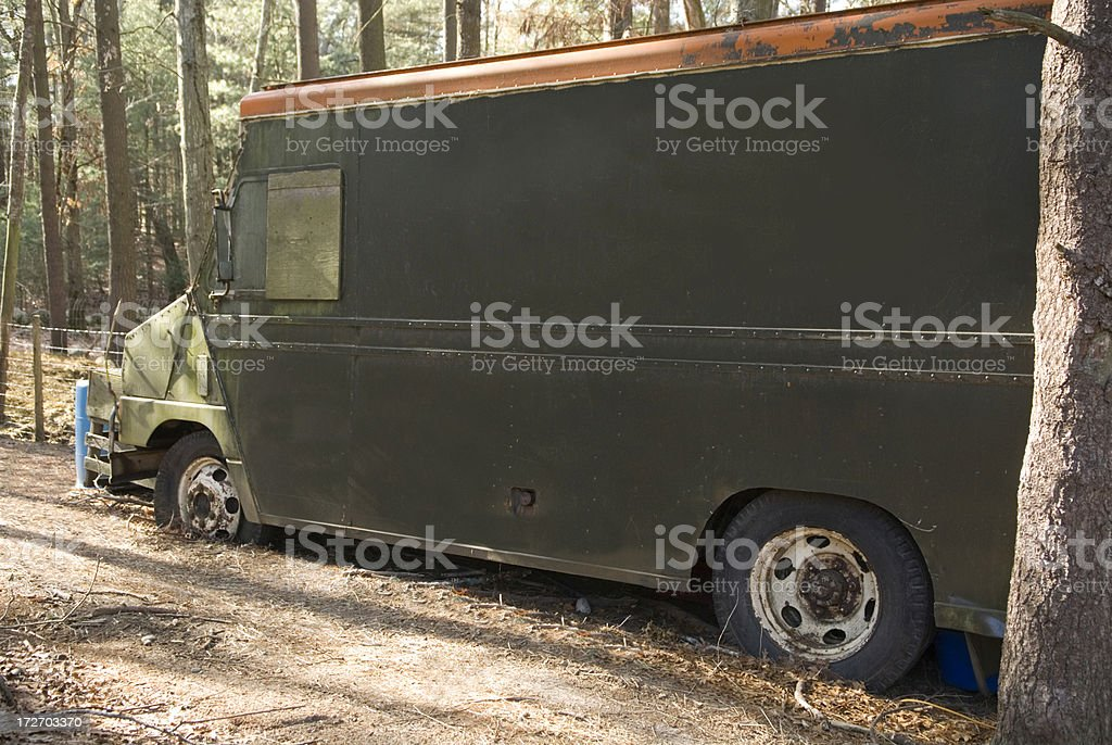Old broken-down truck royalty-free stock photo