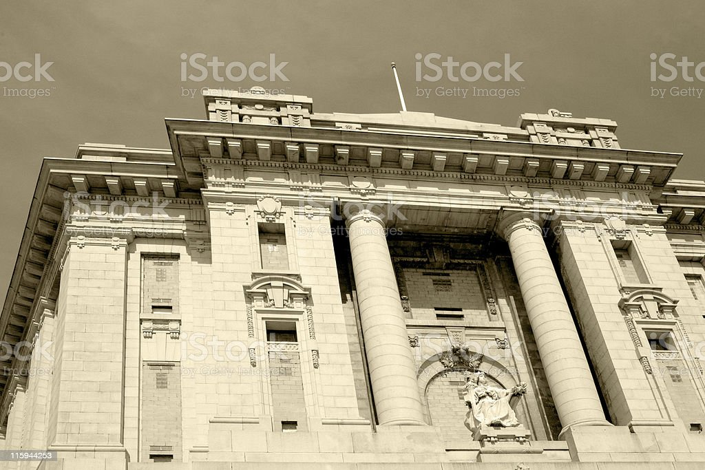 Old Bronx County Courthouse royalty-free stock photo