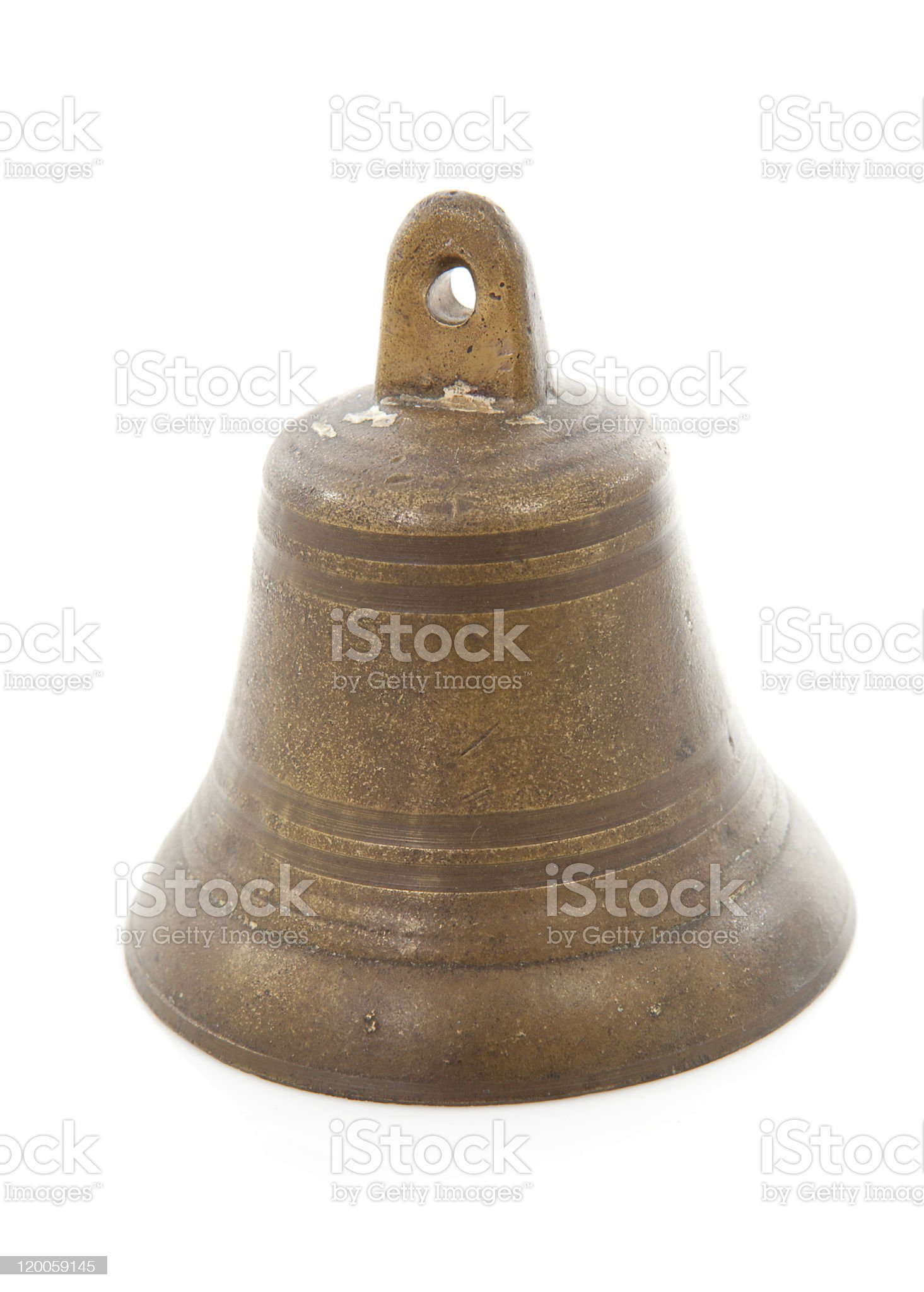 old bronze bell royalty-free stock photo