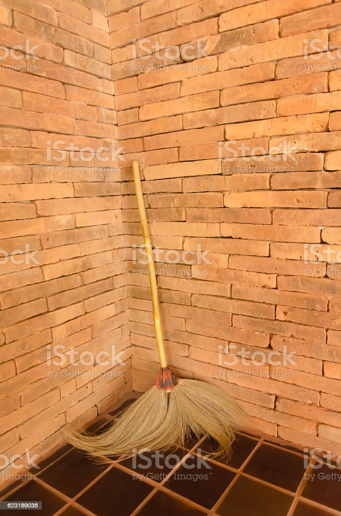 Old  broom royalty-free stock photo