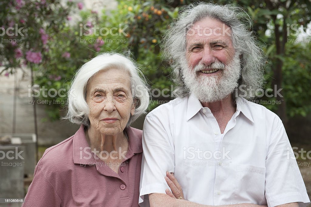 Old Brothers Smiling royalty-free stock photo