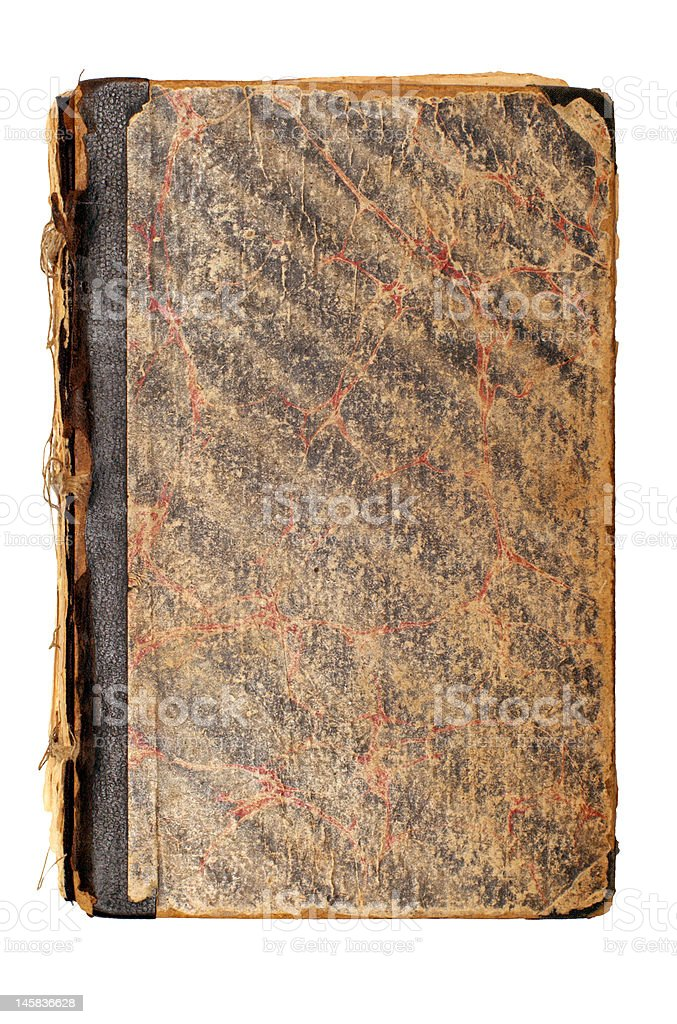 Old brown book cover royalty-free stock photo
