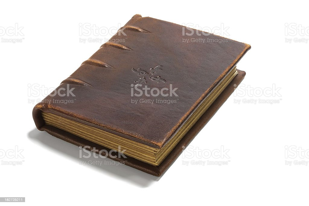 Old  brown book stock photo