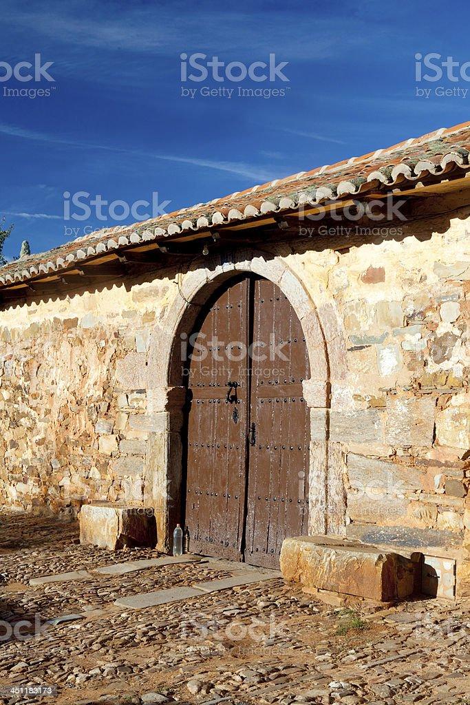Old Brown door royalty-free stock photo