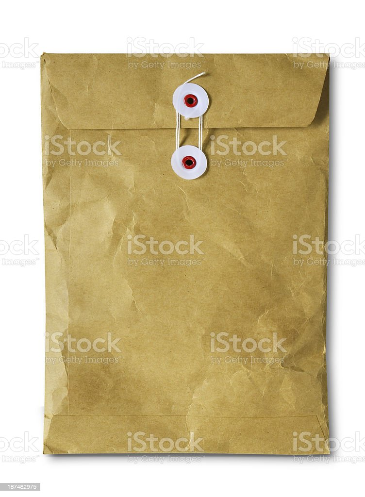 Old Brown Envelope stock photo