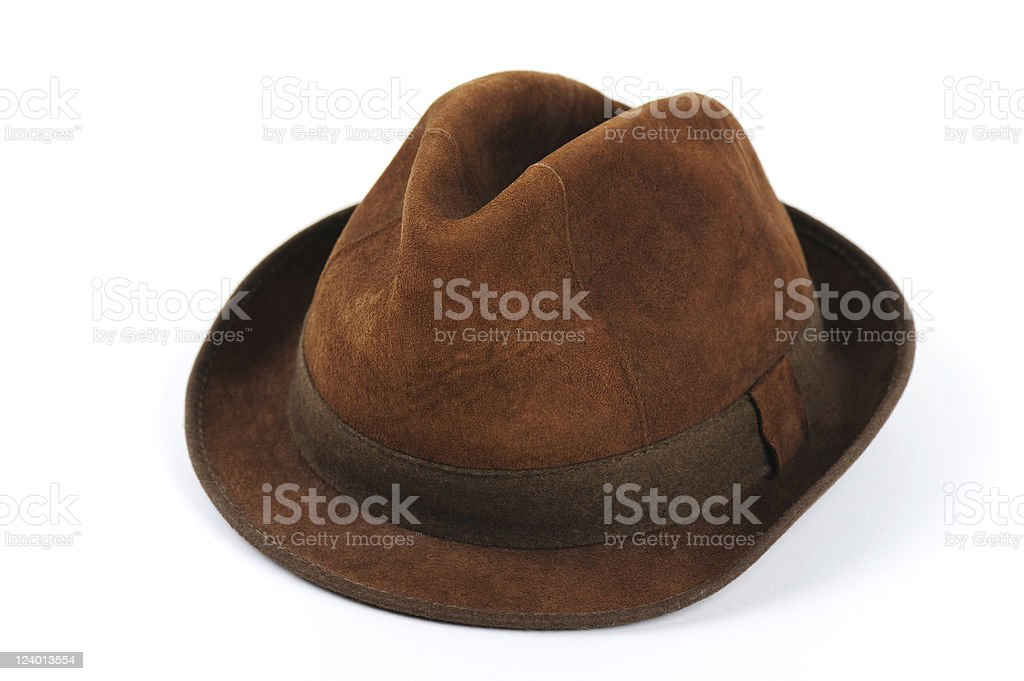 Old Brown Hat stock photo