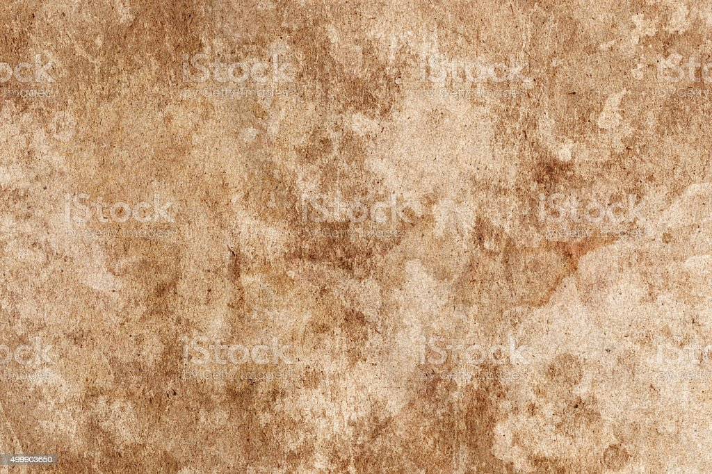 Old Brown Paper Crumpled Mottled Blotted Grunge Texture stock photo