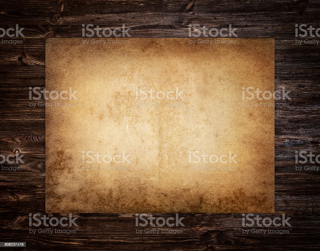 Old brown paper stock photo