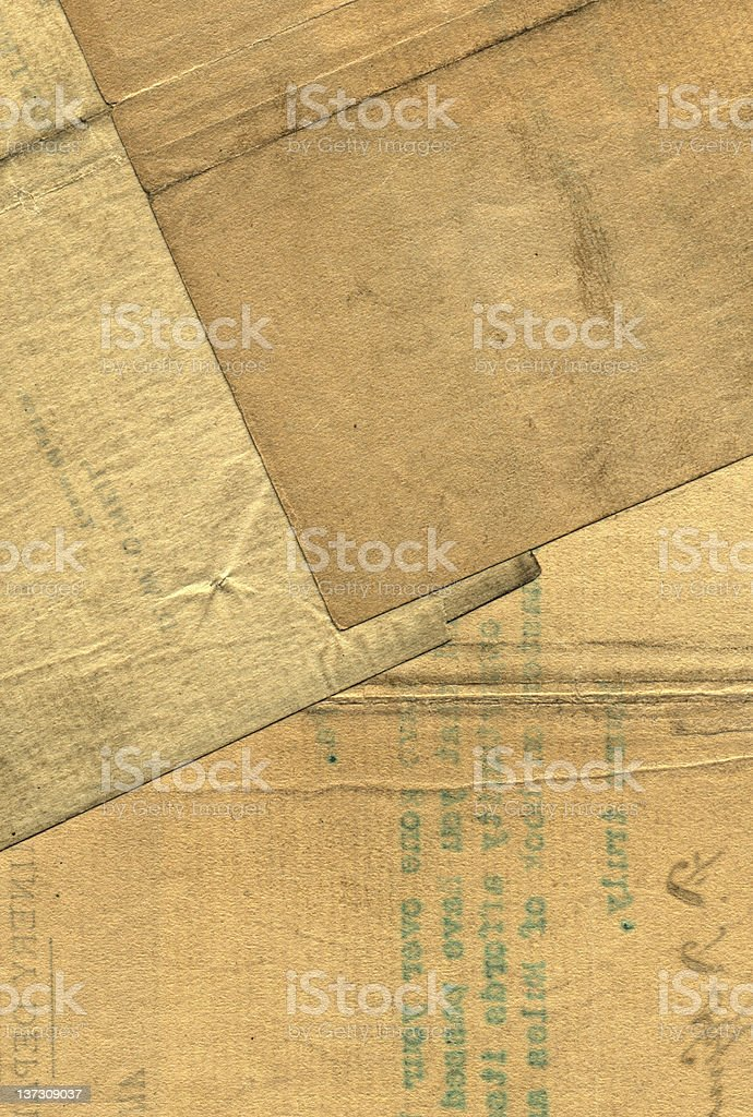 Old Brown Papers royalty-free stock photo