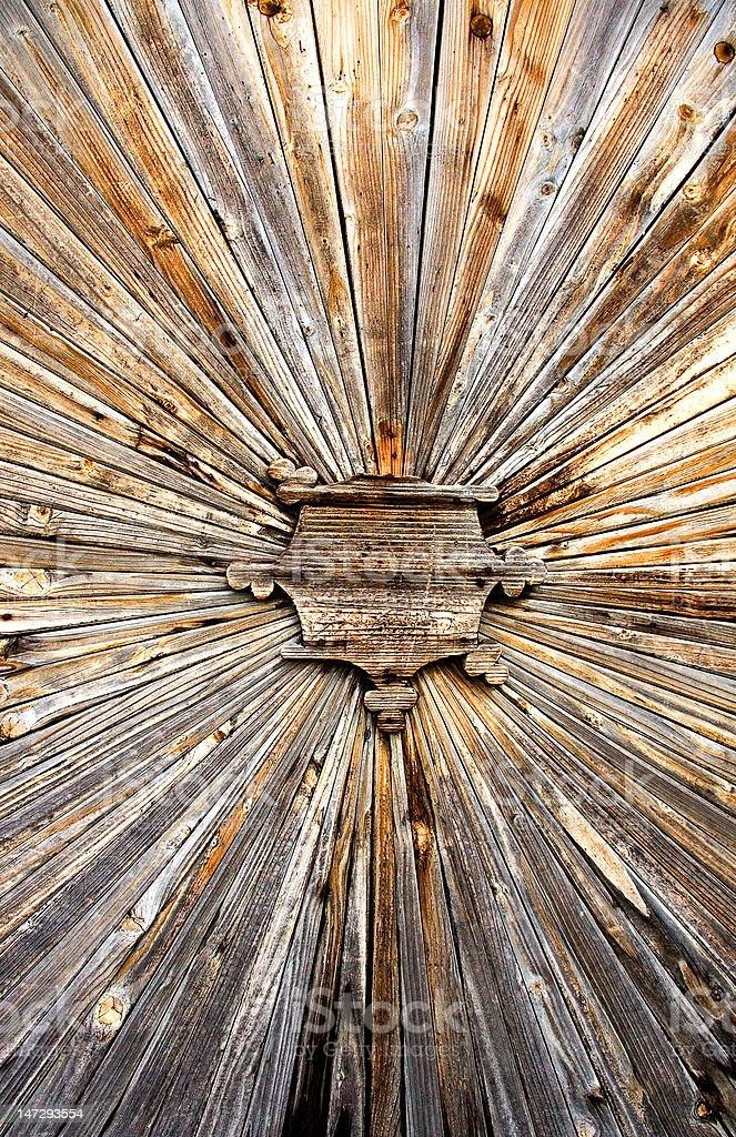 old brown wooden door royalty-free stock photo
