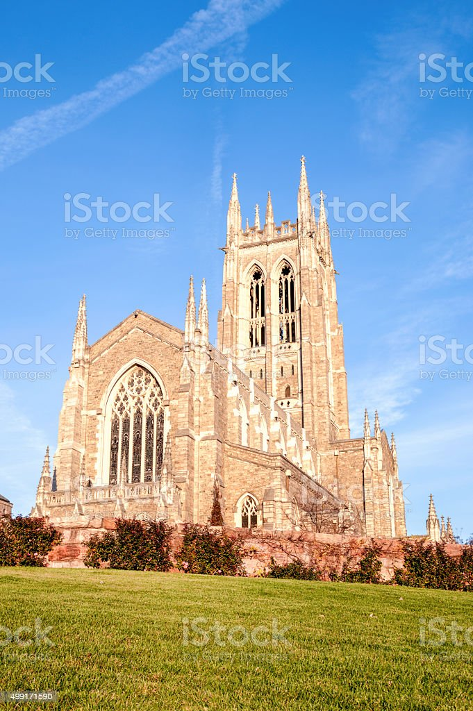 Old Bryn Athyn Cathedral in Pennsylvania stock photo