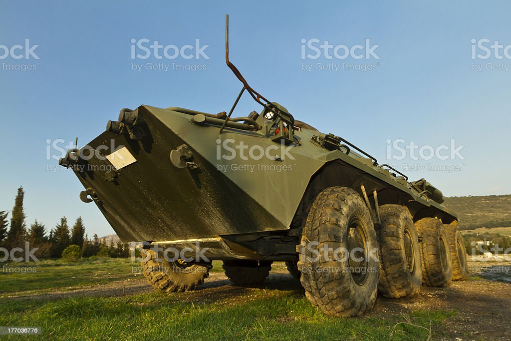 Old btr-80 stock photo