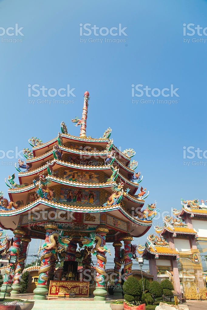 Old Buddhist temple stock photo