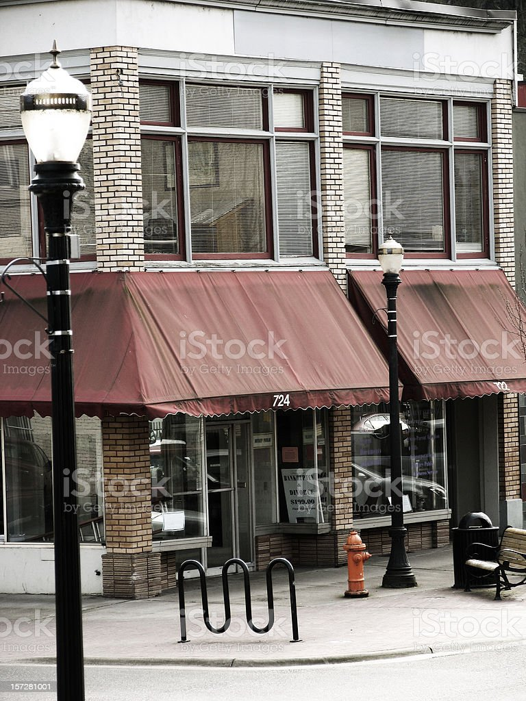 Old Building and Street Lamp royalty-free stock photo