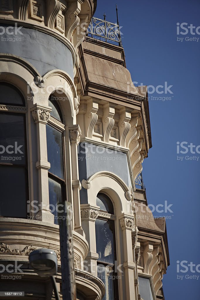 Old Building Detail from Port Townsend stock photo