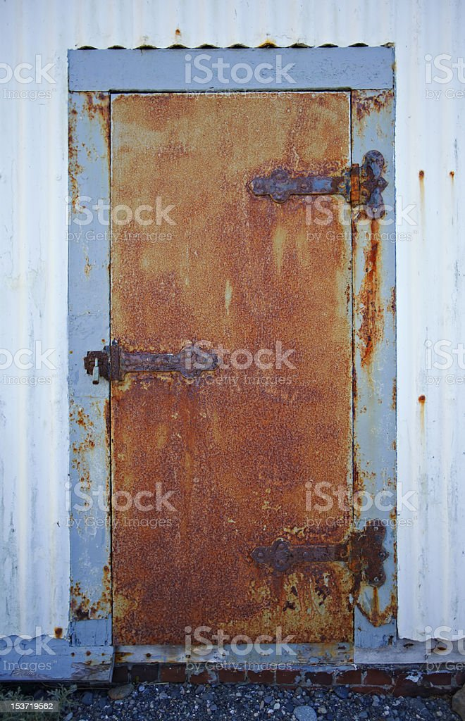 Old Building Detail from Port Townsend rusty door stock photo