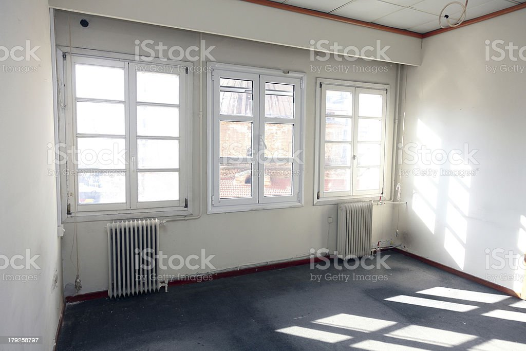 Old building empty rooms royalty-free stock photo