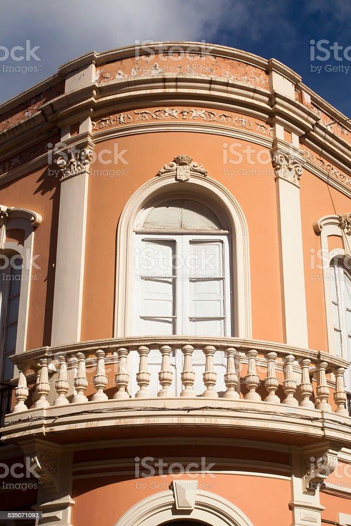 Old building facade stock photo