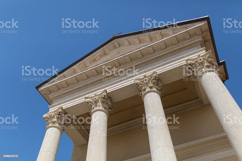Old building in a grek style stock photo